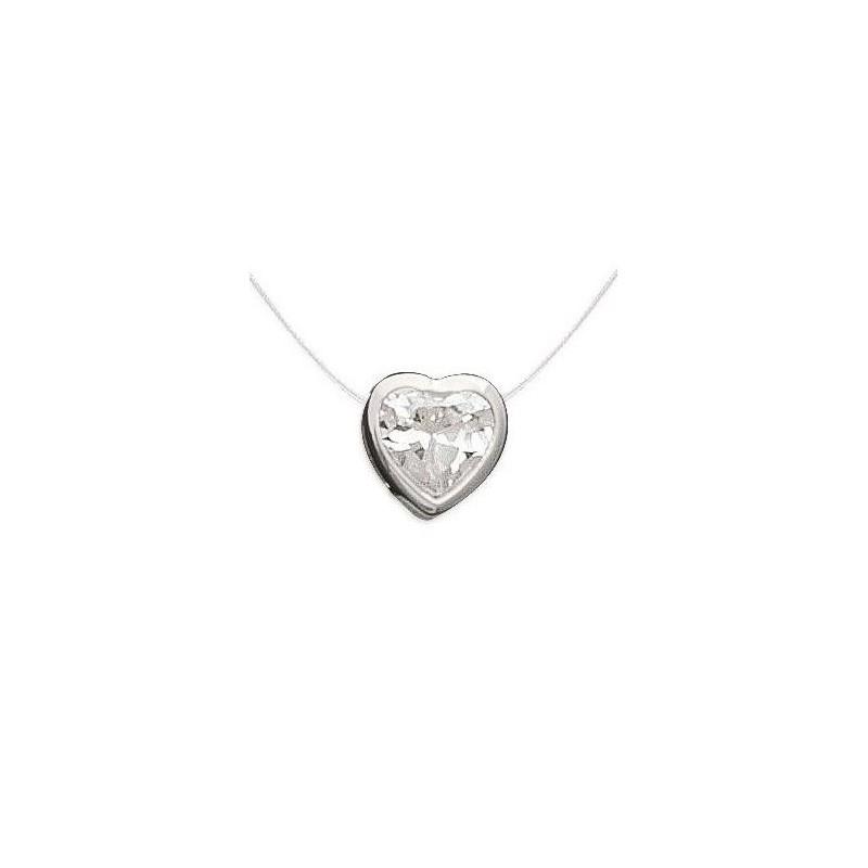 collier femme avec pendentif coeur