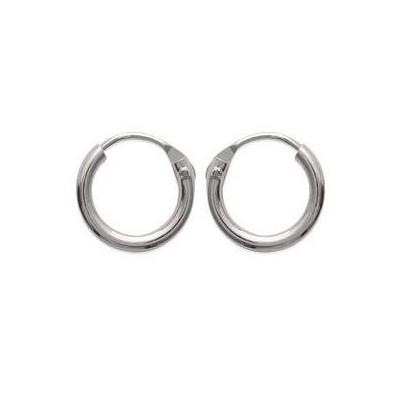 Créoles 10 mm en argent, fil 1,5 mm - Twist - Lyn&Or Bijoux