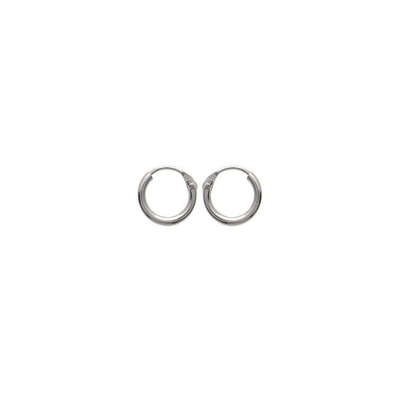 Boucles créoles pour femme 10 mm en argent 925, fil 1,5 mm, Twist