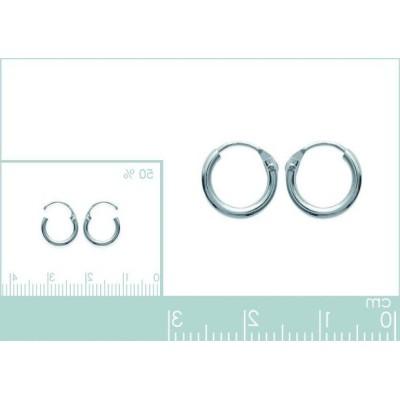 Anneaux créoles pour femme 10 mm en argent 925, fil 1,5 mm, Twist