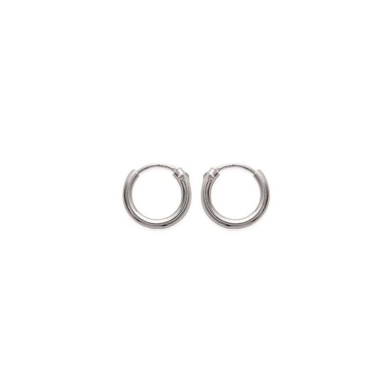 Créoles 12 mm en argent, fil 2 mm pour femme - Mambo - Lyn&Or Bijoux
