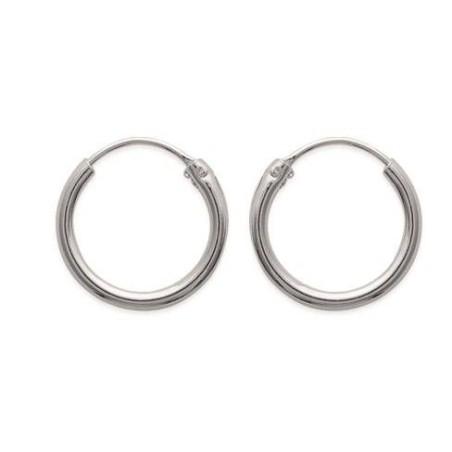 Boucles créoles pour femme 16 mm en argent 925, fil 1,5 mm, Twist