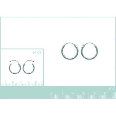 Anneaux créoles femme 16 mm en argent 925/1000, fil 1,5 mm, Twist
