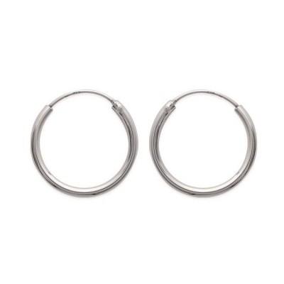 Boucles d'oreilles créoles 20 mm en argent 925, fil 2 mm, Mambo