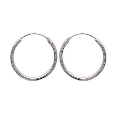 Créoles 25 mm en argent, fil 1,5 mm pour femme - Twist - Lyn&Or Bijoux