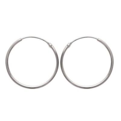 Créoles femme en argent, diamètre 30 mm, fil 1,5 mm - Twist - Lyn&Or Bijoux