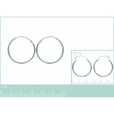 Boucles d'oreilles créoles 30 mm en argent 925, fil 1,5 mm, Twist