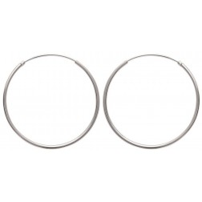 Anneau créoles diamètre 40 mm en argent 925, fil 1,5 mm, Twist