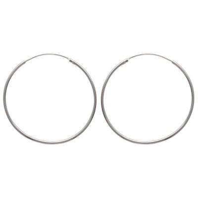 Créoles 45 mm en argent, fil 1,5 mm pour femme - Twist - Lyn&Or Bijoux