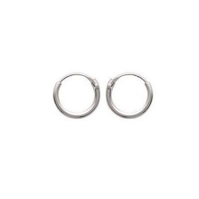 Créoles 8 mm en argent, fil 1,5 mm - Twist - Lyn&Or Bijoux