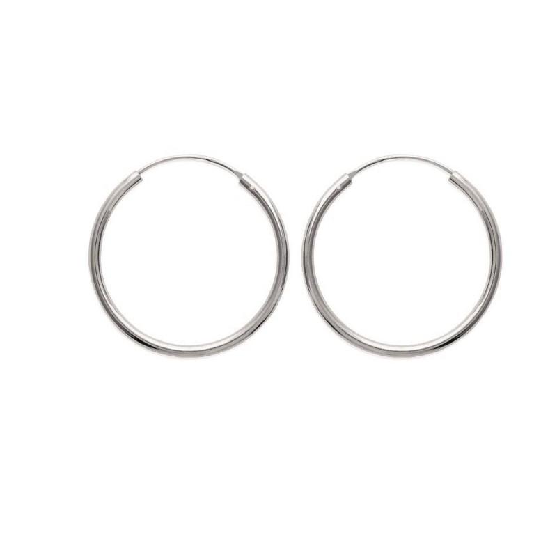 Boucles créoles pour femme 30 mm en argent 925, fil 2 mm, Mambo