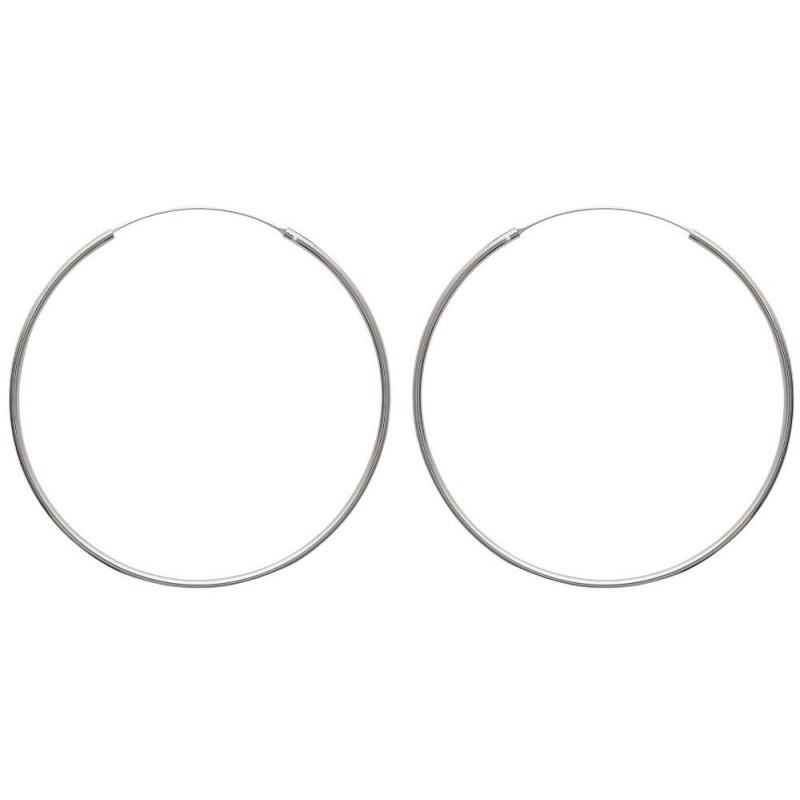 Créoles femme en argent, diamètre 70 mm - Mambo - Lyn&Or Bijoux