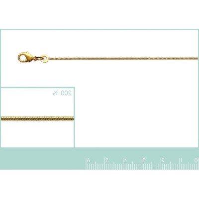 Chaîne pour collier en mailles Serpent ronde en plaqué or 1 mm