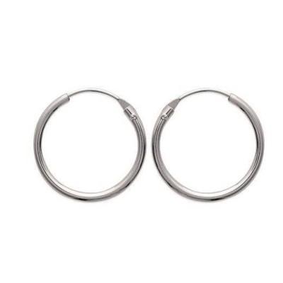 Créoles femme en argent, diamètre 18 mm, fil fin - Twist - Lyn&Or Bijoux