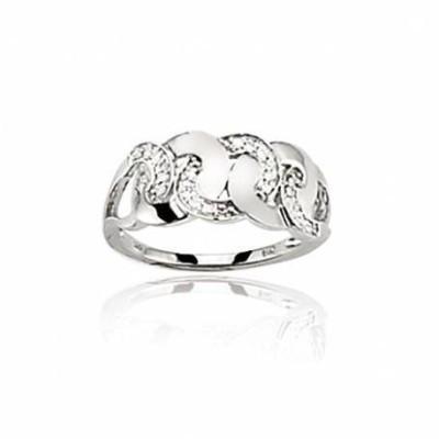 Bague femme en diamants & or blanc 18 carats - Ankara - Lyn&Or Bijoux