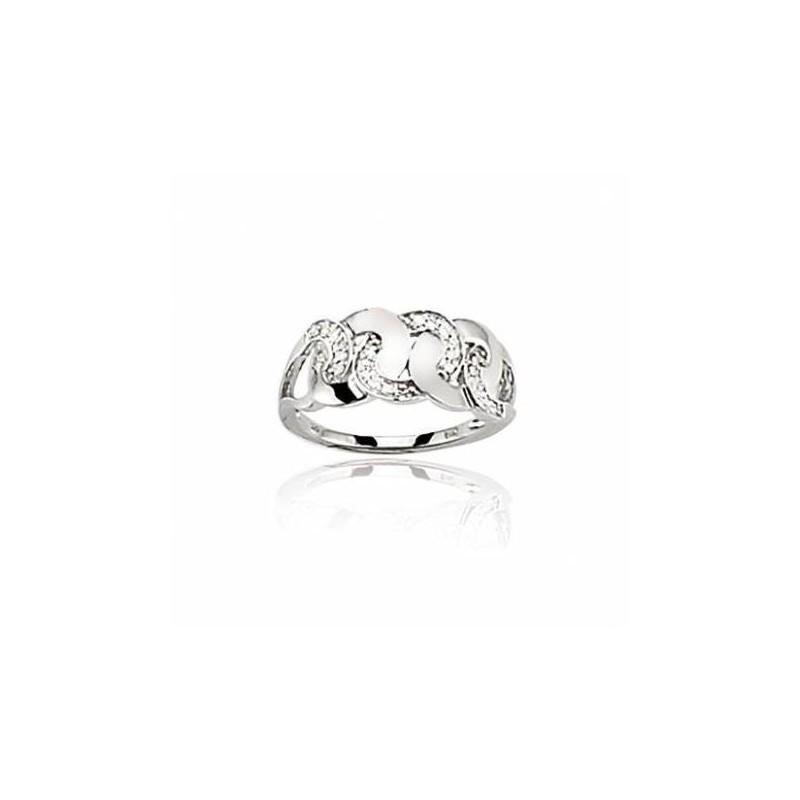 Bague avec diamant en or blanc 18 carats, Ankara