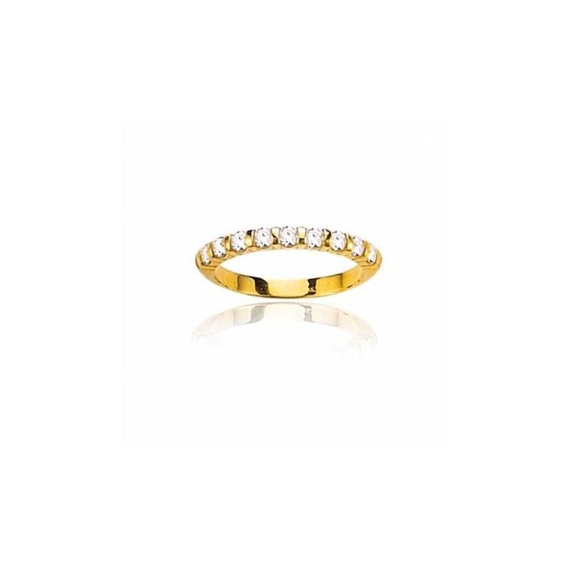 Alliance pour femme en diamants & or jaune - Louisianne - Lyn&Or Bijoux