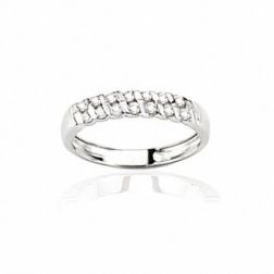 Alliance pour femme or blanc 18 carats et diamants -Diane