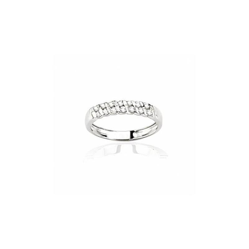 Alliance femme en or blanc & diamants - Diane - Lyn&Or Bijoux