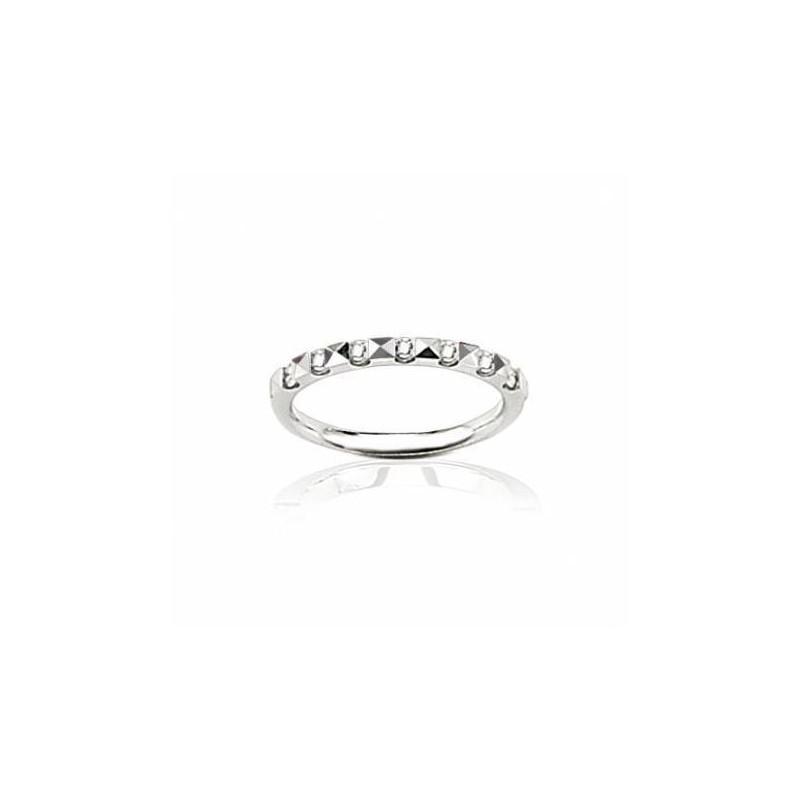 Alliance en or blanc et vrais diamants pour femme, Rêveries
