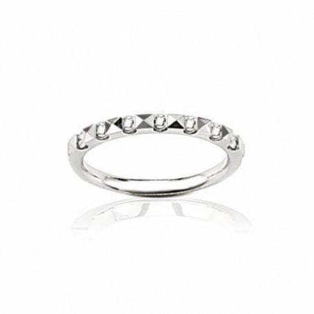 Alliance en or blanc et vrais diamants pour femme, Rêveries