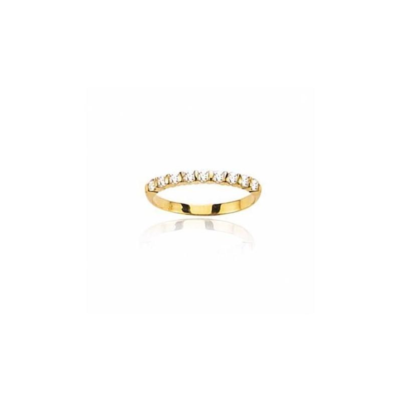 Alliance femme avec diamants en or jaune 18 carats - Casablanca - Lyn&Or Bijoux