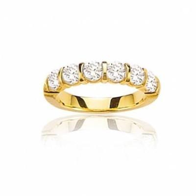 Alliance en or 18 carats et diamant pour femme - Niagara - Lyn&Or Bijoux