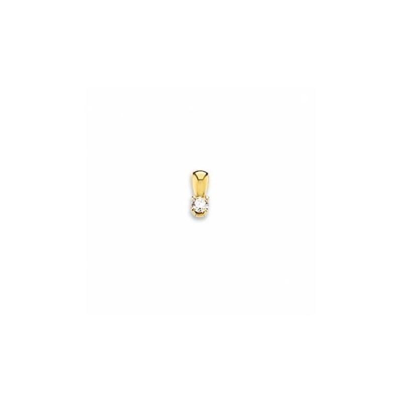 pendentif diamant solitaire pour femme, en or jaune 18 carats - Bijoux de luxe