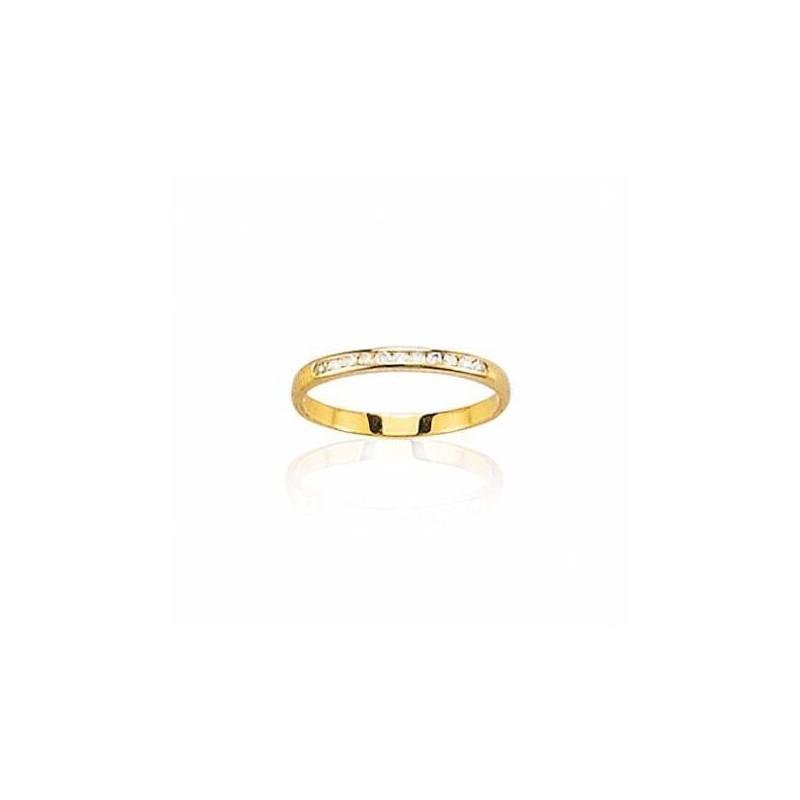 Alliance pour femme, or jaune 18 carats et diamants - Paris - Lyn&Or Bijoux