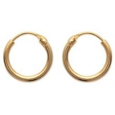 fines créoles plaqué or pour femme et fille - Bijoux - Boucles d'oreilles
