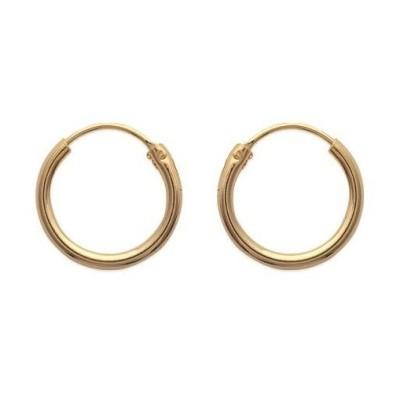 Boucles d'oreilles créoles 16 mm en plaqué or, fil 1,5 mm - Lido