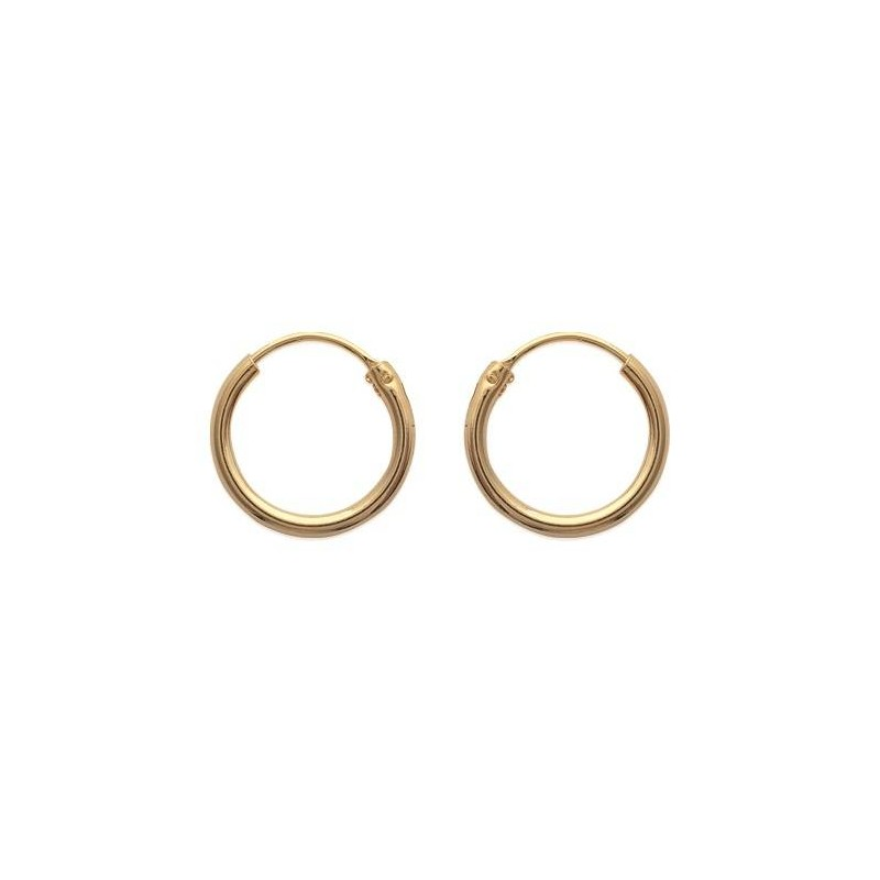 Créoles en plaqué or pour femme, 16 mm, fil 1,5 mm - Lido - Lyn&Or Bijoux