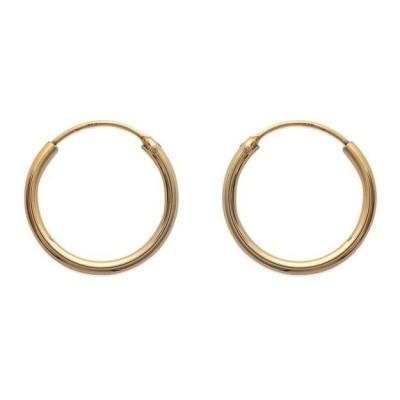 Anneau créoles 20 mm en plaqué or, fil 1,5 mm pour femme - Lido