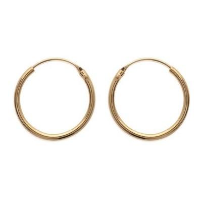 Anneau créoles 25 mm en plaqué or, fil 1,5 mm pour femme - Lido