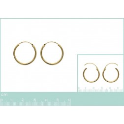 Boucles d'oreilles créoles 25 mm en plaqué or, fil 1,5 mm, Lido
