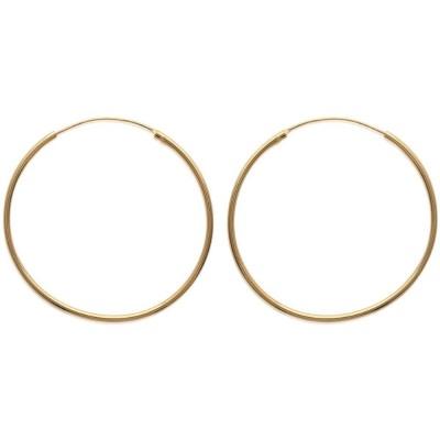 Anneau créoles 45 mm en plaqué or, fil 1,5 mm pour femme, Lido