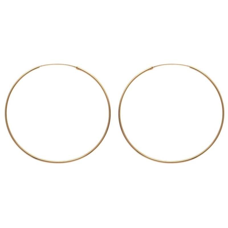 Créoles plaqué or 70 mm, fil 1,5 mm pour femme - Lido - Lyn&Or Bijoux