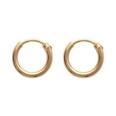 Boucles d'oreilles créoles 12 mm en plaqué or, fil 2 mm - Colibri