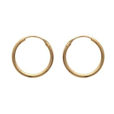 Anneaux créoles pour femme 18 mm en plaqué or, fil 1,5 mm, Lido