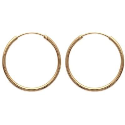 Anneau créoles 30 mm en plaqué or, fil 2 mm pour femme, Colibri