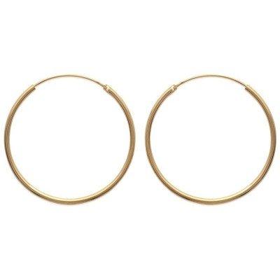 Créoles plaqué or 40 mm, fil 2 mm pour femme - Colibri - Lyn&Or Bijoux