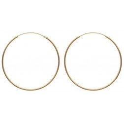 Créoles plaqué or 70 mm, fil 2 mm pour femme - Colibri - Lyn&Or Bijoux