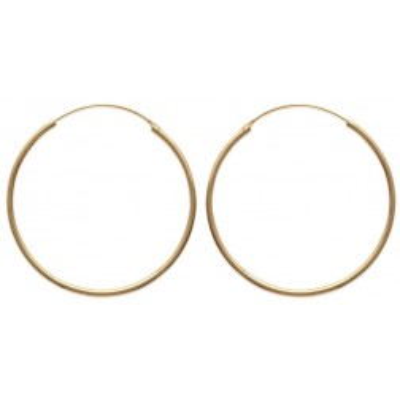 Créoles plaqué or 50 mm, fil 2 mm pour femme - Colibri