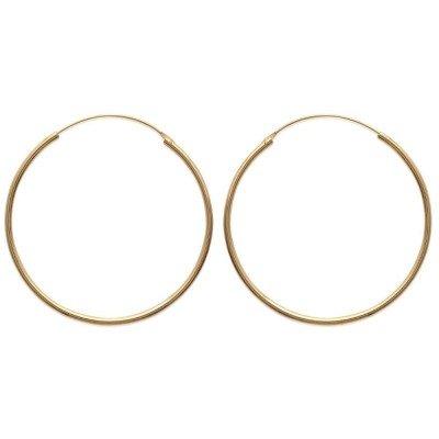 Créoles plaqué or 50 mm, fil 2 mm pour femme - Colibri - Lyn&Or Bijoux