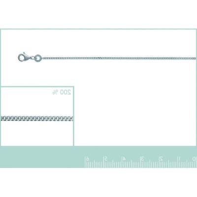 Bracelet gourmette diamantée 1,25 mm