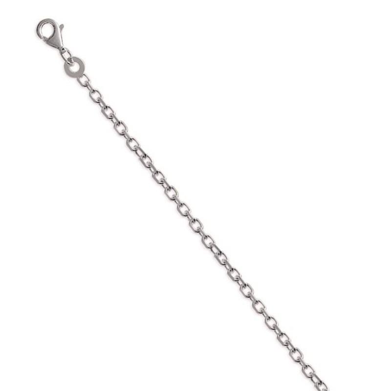 Chaîne forçat diamantée en argent - Largeur 1,90 mm - Lyn&Or Bijoux