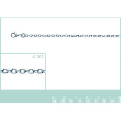 Chaîne pour collier en mailles forçat diamantée en argent 1,90 mm