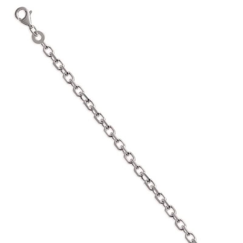 Chaîne forçat diamantée en argent 2,60 mm - Lyn&Or Bijoux
