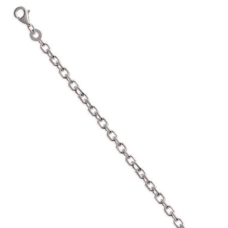 Chaîne pour collier forçat diamantée en argent 925 2,60 mm