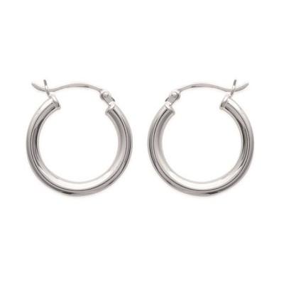 Boucles d'oreilles créoles 20 mm en argent 925, fil 3 mm, Solo